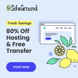 Siteground 250 x 250 General Hosting White
