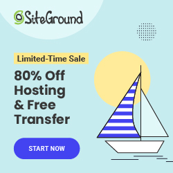 SiteGround WordPress Hosting Banner Advertisement - 70% Off Hosting Packages